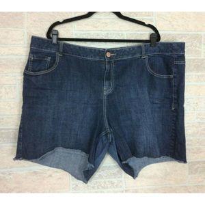 Lane Bryant Cut Off Jeans Short Blue Denim Cotton